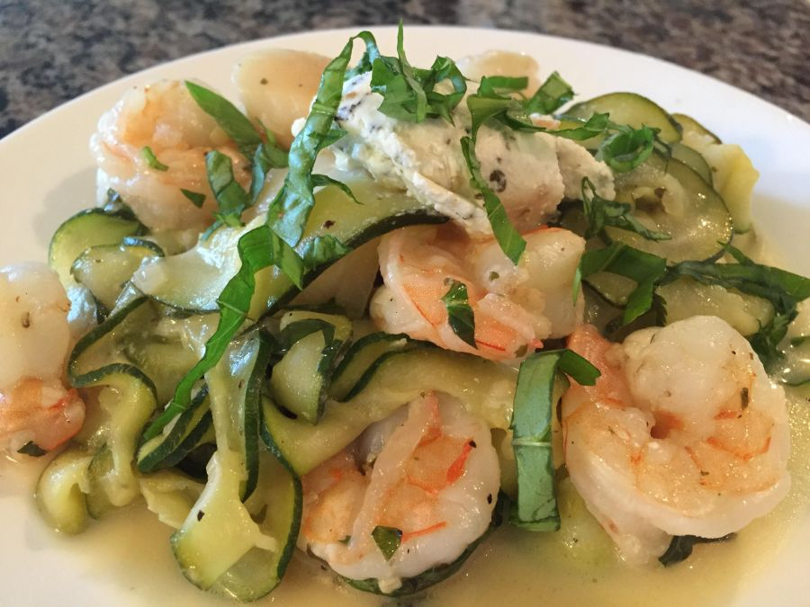 Seared Scallops with Shrimp & Zucchini